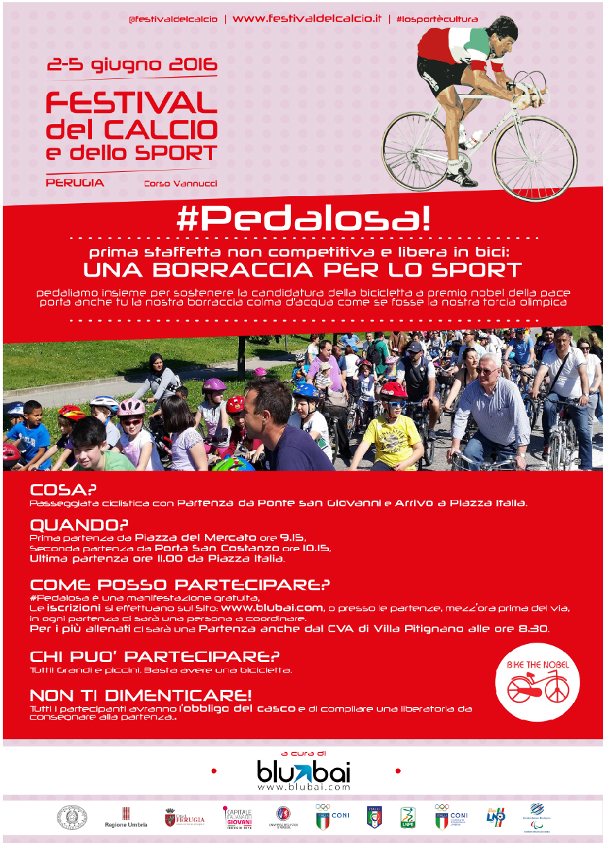 La Pedalosa, 2 giugno, per il Festival del Calcio e dello Sport a Perugia