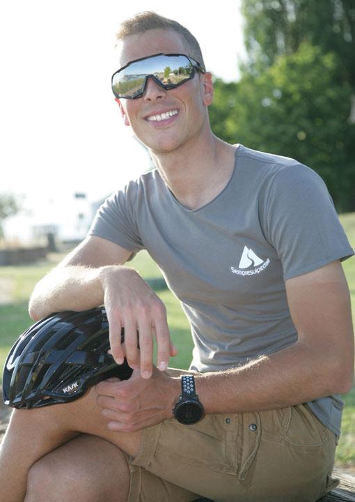 ciclista felice