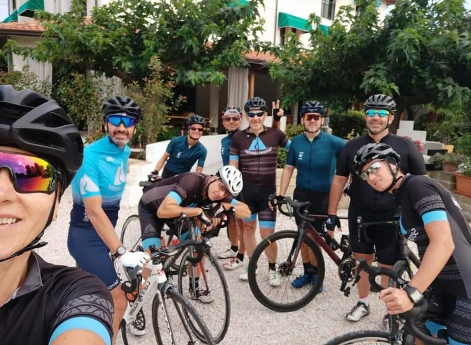 ciclisti in Umbria